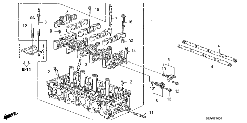 2008 TSX 4 DOOR 6MT CYLINDER HEAD diagram