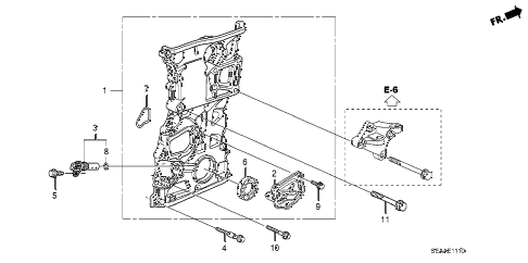2008 TSX 4 DOOR 5AT CHAIN CASE diagram
