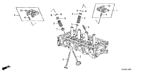 2008 TSX 4 DOOR 5AT VALVE - ROCKER ARM diagram