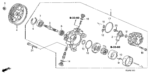 2008 TSX 4 DOOR 6MT P.S. PUMP diagram