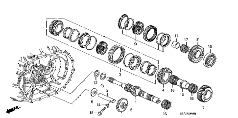2008 TSX 4 DOOR 6MT MT MAINSHAFT (KA) diagram