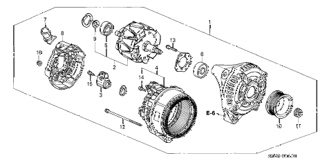 2004 TL SPORT 4 DOOR 6MT ALTERNATOR (DENSO) diagram