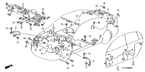 2005 TL SPORT 4 DOOR 6MT WIRE HARNESS diagram