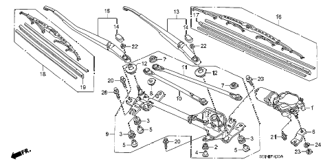 2006 TL SPORT 4 DOOR 6MT FRONT WINDSHIELD WIPER diagram