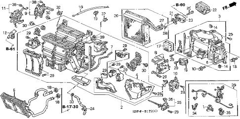 2005 TL SPORT 4 DOOR 6MT HEATER UNIT diagram