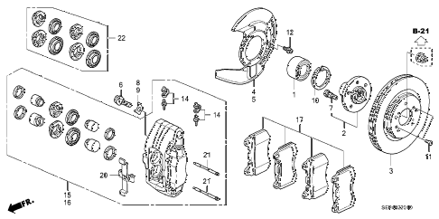 2006 TL SPORT 4 DOOR 6MT FRONT BRAKE (2) diagram