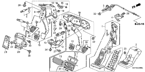 2006 TL SPORT 4 DOOR 6MT PEDAL diagram