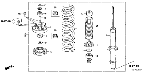 2005 TL SPORT 4 DOOR 6MT FRONT SHOCK ABSORBER diagram
