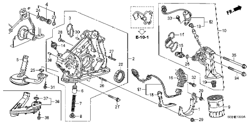 2004 TL SPORT 4 DOOR 6MT OIL PUMP diagram