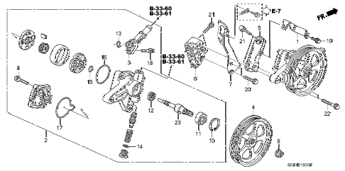 2007 TL TYPE-S 4 DOOR 6MT P.S. PUMP - BRACKET diagram