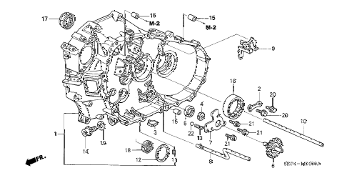 2004 TL SPORT 4 DOOR 6MT MT CLUTCH CASE diagram
