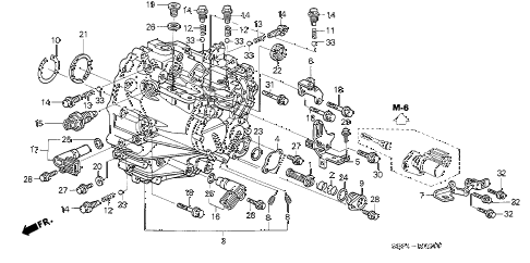 2004 TL SPORT 4 DOOR 6MT MT TRANSMISSION CASE diagram