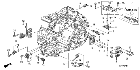 2008 TL TYPE-S 4 DOOR 5AT AT SENSOR - SOLENOID diagram