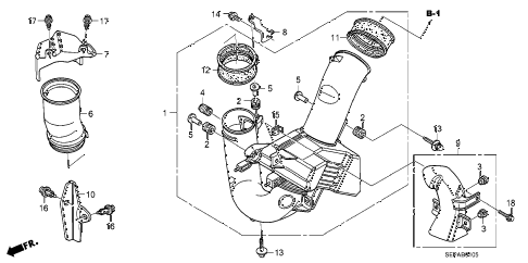 2008 TL TYPE-S 4 DOOR 5AT RESONATOR CHAMBER diagram