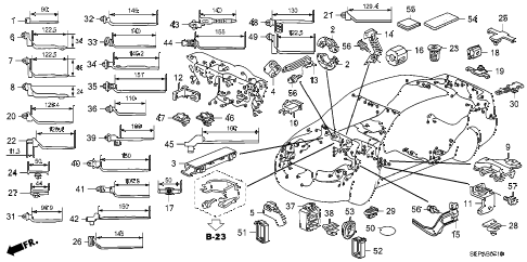 2008 TL TYPE-S 4 DOOR 6MT HARNESS BAND - BRACKET diagram