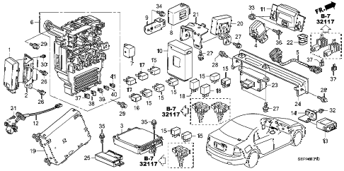 2008 TL TYPE-S 4 DOOR 6MT CONTROL UNIT (CABIN) diagram