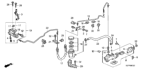 2008 TL TYPE-S 4 DOOR 6MT CLUTCH MASTER CYLINDER diagram