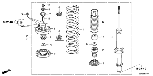 2008 TL TYPE-S 4 DOOR 6MT FRONT SHOCK ABSORBER diagram