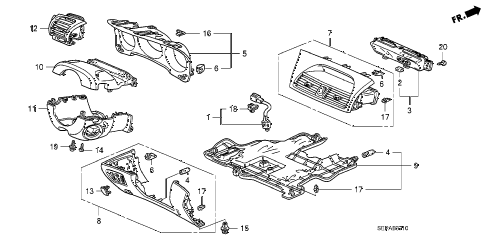 2008 TL TYPE-S 4 DOOR 6MT INSTRUMENT PANEL GARNISH (DRIVER SIDE) diagram