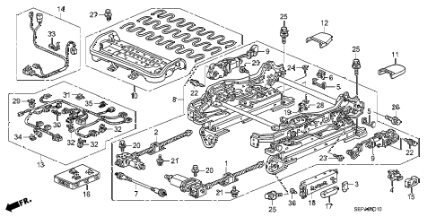 2008 TL TYPE-S 4 DOOR 5AT FRONT SEAT COMPONENTS (L.) diagram