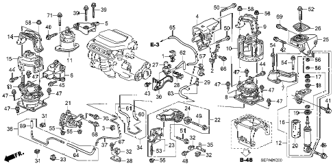 2008 TL TYPE-S 4 DOOR 6MT ENGINE MOUNTS (MT) diagram