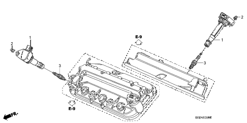 2008 TL TYPE-S 4 DOOR 5AT PLUG HOLE COIL - PLUG diagram