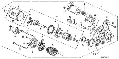 2008 TL TYPE-S 4 DOOR 5AT STARTER MOTOR (MITSUBISHI) diagram