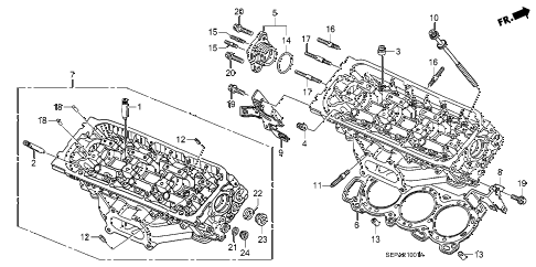 2008 TL TYPE-S 4 DOOR 5AT REAR CYLINDER HEAD diagram