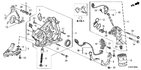 2008 TL TYPE-S 4 DOOR 6MT OIL PUMP diagram
