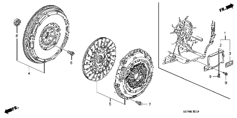 2008 TL TYPE-S 4 DOOR 6MT CLUTCH diagram