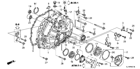 2011 RL 4 DOOR 6AT AT TRANSMISSION CASE (6AT) diagram