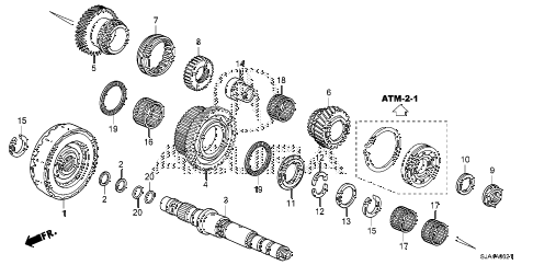 2012 RL-H 4 DOOR 6AT AT THIRD SHAFT (6AT) diagram