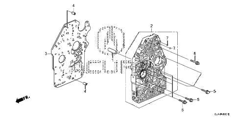 2012 RL-H 4 DOOR 6AT AT MAIN VALVE BODY (6AT) diagram