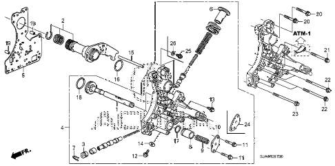 2010 RL 4 DOOR 5AT AT REGULATOR BODY diagram