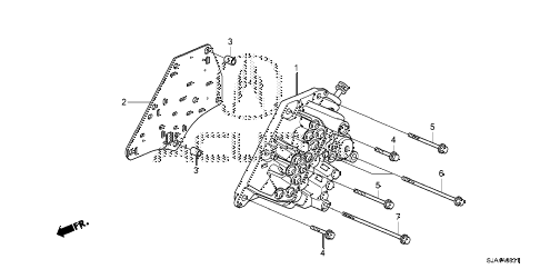 2011 RL 4 DOOR 6AT AT MANUAL VALVE BODY (6AT) diagram