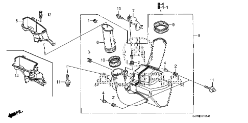 2011 RL-H 4 DOOR 6AT RESONATOR CHAMBER diagram