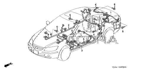 2012 RL-TEC 4 DOOR 6AT WIRE HARNESS (3) diagram