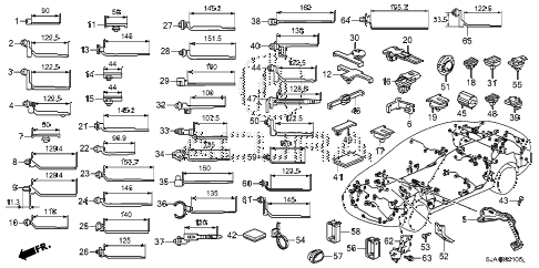 2012 RL-TEC 4 DOOR 6AT HARNESS BAND - BRACKET diagram