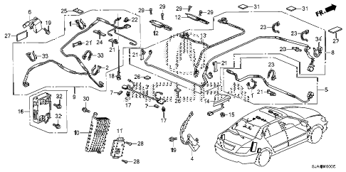 2008 RL-TEC 4 DOOR 5AT ANTENNA diagram