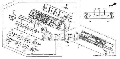 2012 RL-H 4 DOOR 6AT AUTO AIR CONDITIONER CONTROL diagram