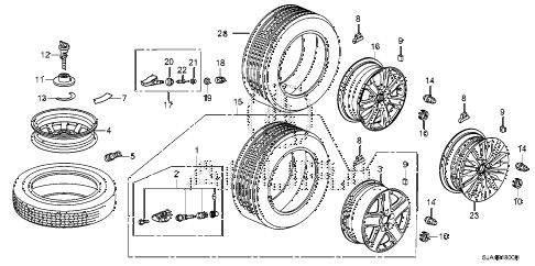 2008 RL 4 DOOR 5AT WHEEL DISK diagram