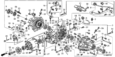 2008 RL-TEC 4 DOOR 5AT REAR DIFFERENTIAL - MOUNT diagram