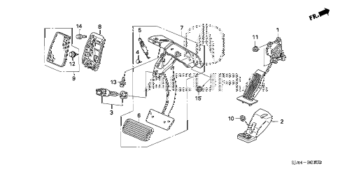 2012 RL-H 4 DOOR 6AT PEDAL diagram