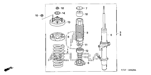 2012 RL-TEC 4 DOOR 6AT FRONT SHOCK ABSORBER diagram
