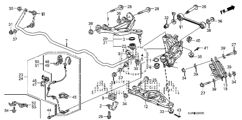 2010 RL-TEC 4 DOOR 5AT REAR LOWER ARM diagram