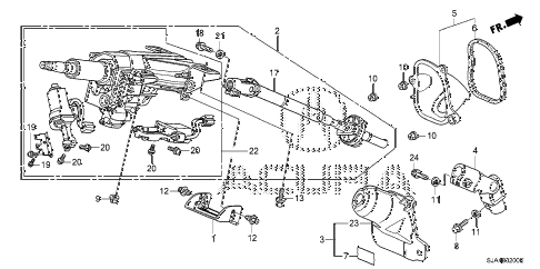 2009 RL-TEC 4 DOOR 5AT STEERING COLUMN diagram