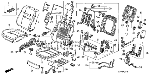 2006 RL 4 DOOR 5AT FRONT SEAT (R.) (1) diagram