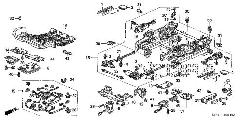 2008 RL-TEC 4 DOOR 5AT FRONT SEAT COMPONENTS (L.) (1) diagram