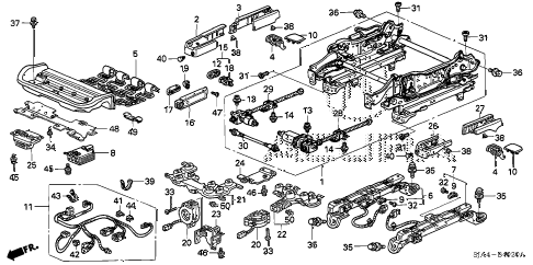 2008 RL-TEC 4 DOOR 5AT FRONT SEAT COMPONENTS (R.) (1) diagram
