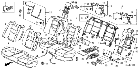 2009 RL-TEC 4 DOOR 5AT REAR SEAT diagram